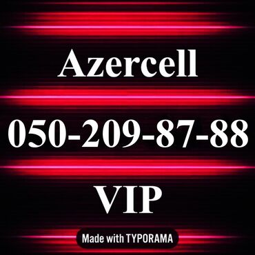 nomre - Azərbaycan: 050-209-87-88 Yeni VIP Azercell nomre