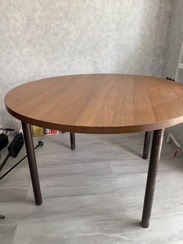 Продаю обеденный круглый стол. Стола ширина: 120/120 высота 75.  Ножки