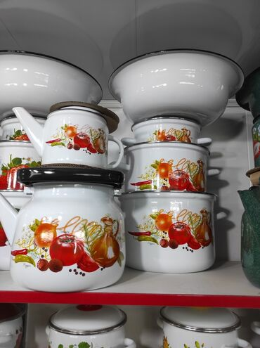 Набор эмалированной посуды 6 предметДоставка по городу бесплатно!В