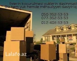 Bakı şəhərində Yük Daşınma sizə 7 gün 24 saat ərzində