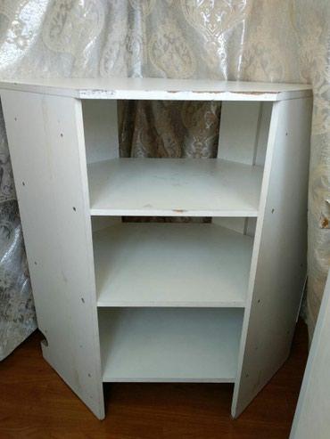 Угловой стол, с полками, подойдёт как для офиса, так и для дома в Бишкек - фото 2