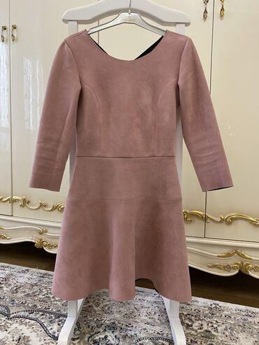 Продаётся нежное, лёгкое платье, под замшу размер стандарт (s,m)