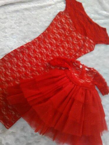платье мама и дочь в Кыргызстан: Продаю комплект платья для стройной мамы и Доченьки 1,5-2,5