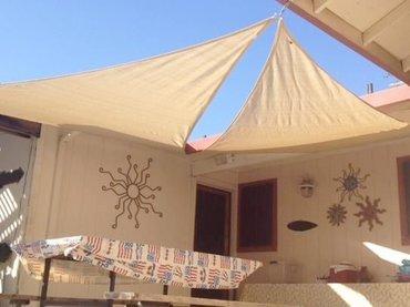 Ibiza tende za dvorišta i terase, 3 x 3 x 3m u bež boji. Odlična - Belgrade