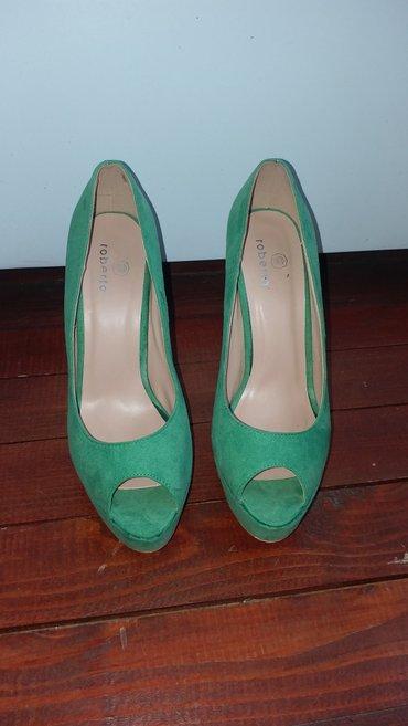 Cipele zelene 38 broj, 12cm stikla VASA POSTARINA - Kraljevo