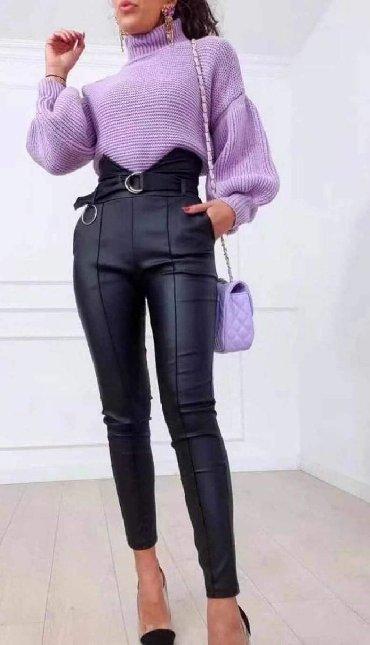 Bez pantalone broj - Srbija: Pantalone od eko koze visoki struk NOVO!*Nova Kolekcija *Dostupne boje