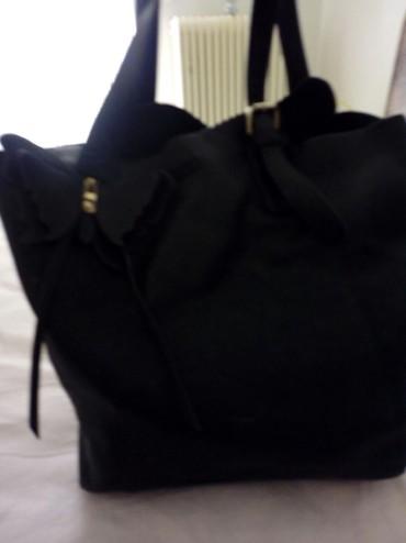 Τσάντα μαύρη ευρύχωρη
