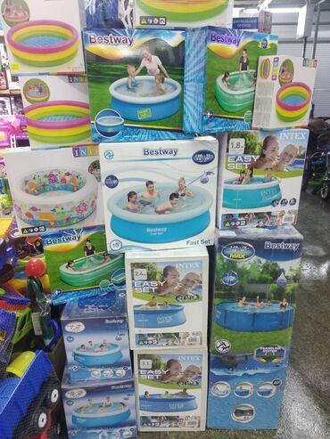 Надувные бассейны фирмы Intex и Bestway Есть все размеры  бассейн наду