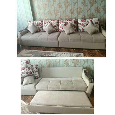 Ev və bağ Salyanda: Divan satilir 350 azn,4 böyük yastiq, 4 kiçik yastıgi var.Eni 90
