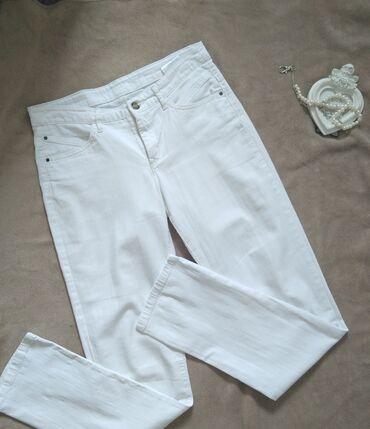 Pantalone cm - Srbija: CA bele pantalone, poput najtanjeg teksasa, velicina M. Struk 38