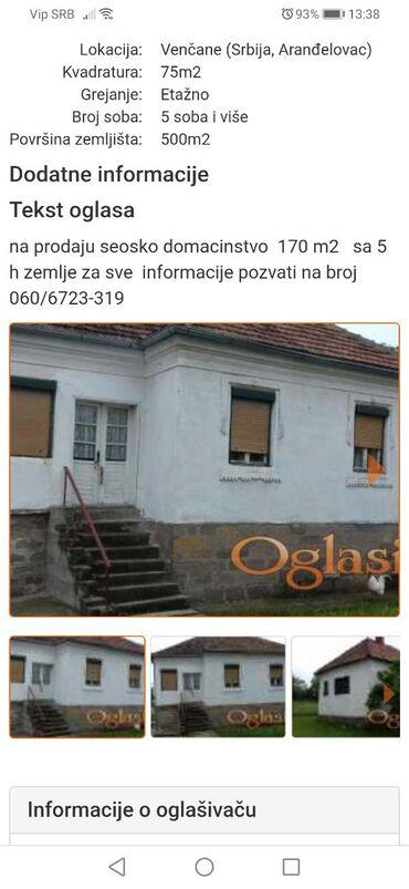 Na prodaju - Arandjelovac: Na prodaju Kuća 170 sq. m, 5 soba