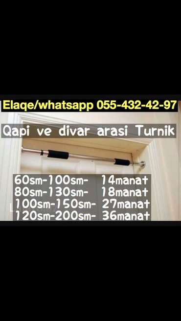 Bakı şəhərində Turnik ev ucun.. Kisiler xanimlar ve uwaqlar ucun ev ucun qapi arasi v