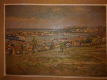 Slika ulje na drvetu,1947 god.Autor nemački slikar Karl Demetz.Motiv - Crvenka