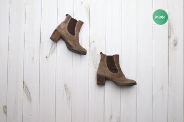 Женская обувь - Украина: Жіночі замшеві ботильйони, р. 37   Висота каблука: 6 см  Стан гарний
