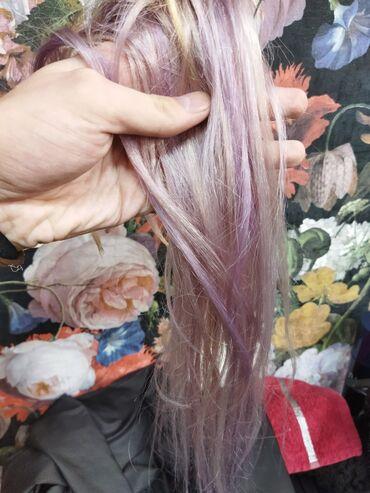 продажа цыплят в бишкеке в Кыргызстан: Срочно продаю волосы блонд 220 капсул 58-60 см он фиолетовый из за