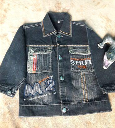 Куртка весенняя джинсовая. Черная, в плечах 32 см, длина (от плеча) 42