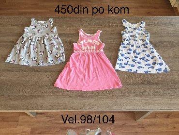 Decije haljine - Indija: H&M haljina za devojcice vel 98/104(2-4god) Svaka po 450din