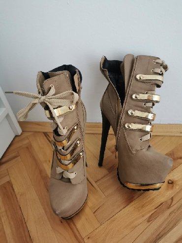 Predivne, par puta nosene, ocuvane, nove kamel cizme sa visokom - Pirot