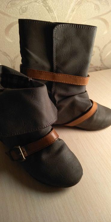 Продаю деми сапожки, б/у кожаные, в Бишкек