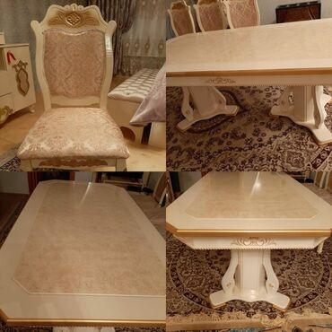Stol+8stul 700₼ satilir. stolu acilir. ərazi Xaqlar dostlugu