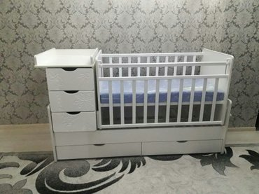 Новая кроватка производства россия. доставка по городу бесплатная. в Балыкчы