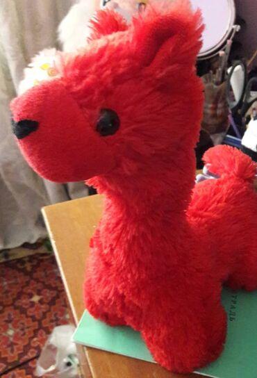 Лама. Мягкая игрушка длина 18 см. Находятся в мрн. Аламедин-1