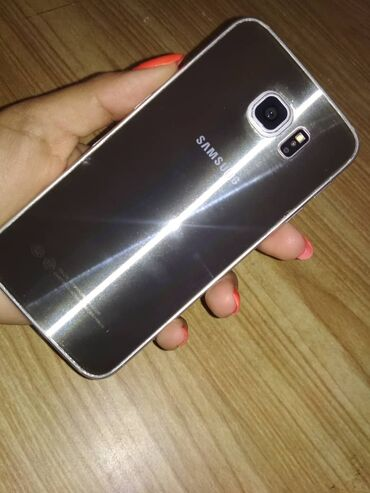 samsung s6 32gb в Кыргызстан: Б/у Samsung Galaxy S6 64 ГБ Золотой