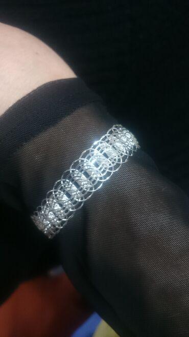 гибкое пианино в Кыргызстан: Стильный серебряный браслет напоминающий Скалапендру. Легкий