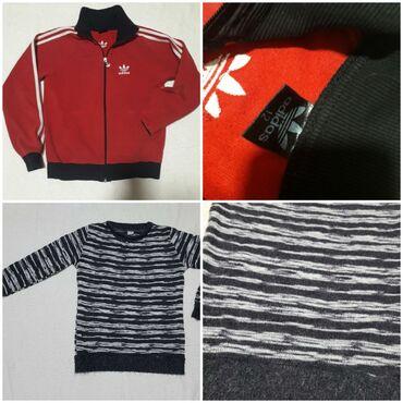 Dečija odeća i obuća - Obrenovac: AKCIJAZa devojčice vel 12-14Adidas crveni duks vel 12Sivo crno beli