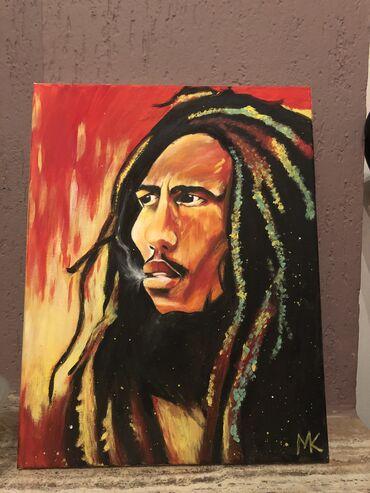Bob Marley smoking weed 35x45 xm