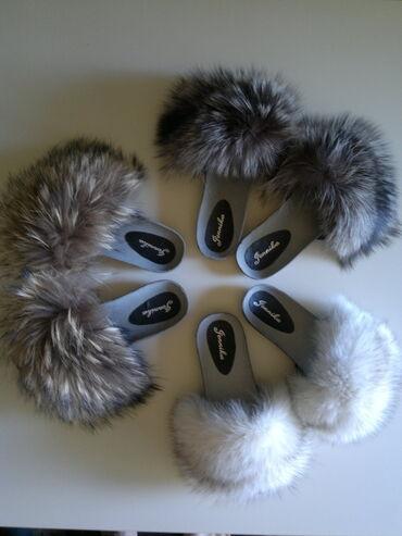 Krzno - Srbija: Anatomske krznene papuče NovoNajveći izbor papuča sa pravim