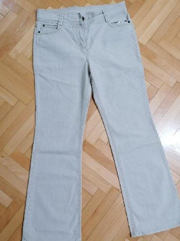 Farmerice-izbeljene-nisu-obim-struka-cm - Srbija: Pantalone br. 42Nisu nošenje, iz EngleskeDužina 105 cm, sirina kod