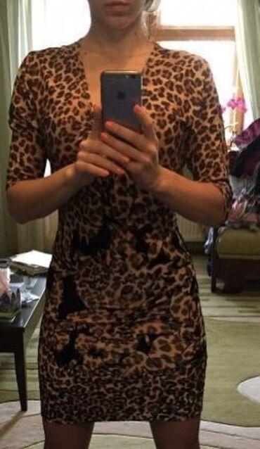 waggon платье в Кыргызстан: Waggon Paris леопардовое платье размер s-m