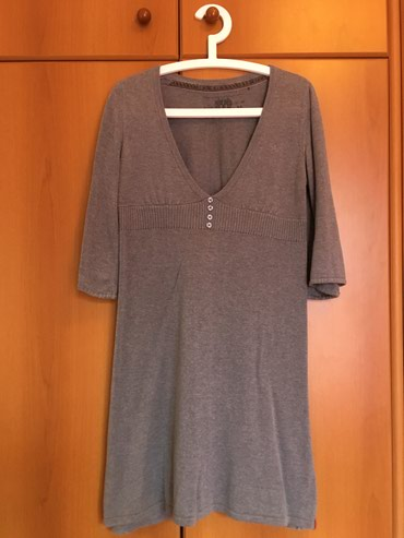 EDC by Esprit grey dress 3/4 sleeves size M in perfect condition σε Thessaloniki