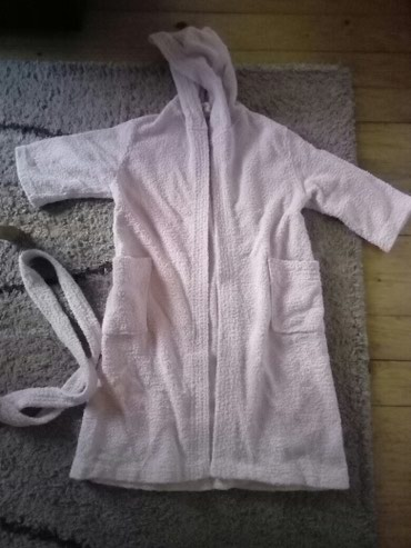 Baden mantil,boja bebi roze. duzina 80cm, duz.rukava 28cm - Pancevo