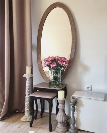 Stilsko ogledalo u duborezu od punog drveta - Sremska Kamenica