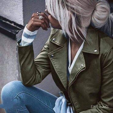 Maslinasto zelena jakna - Srbija: Jaknice od eko koze NOVO SA ETIKETOM!* Nova Kolekcija *Dostupne boje