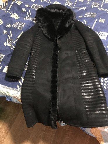 palto razmer 46 в Кыргызстан: Дубленка почти новая воротник из норки 44 -46 размер
