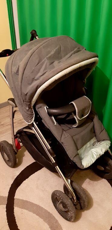 Bebi kolica - Srbija: Dečija kolica, očuvana, deo za ležanje i deo za sedenje, kišobran