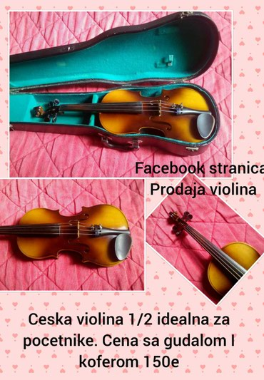 Sport i hobi - Pozarevac: Ceska 1/2 violina, 150eu kompletu idu violina + gudalo + kutijaza vise