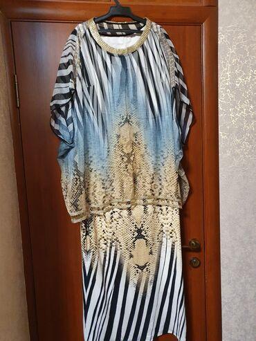 платья вечерние in Кыргызстан | МАТЕРИНСКИЕ ПЛАТЫ: Вечернее платье трикотаж а сверху накидка из шиыона с