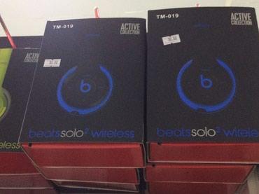 Bakı şəhərində Beats qulaqliq mikro kart destekleyir bluetooth la isleyir grey ve blu