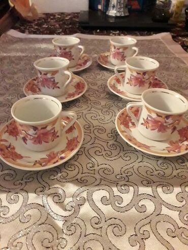 Qedimi Yuqoslaviyanin kofe servizi.farfordan.70 man