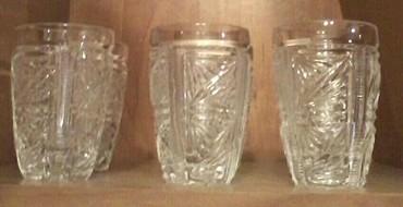 Стаканы - Кыргызстан: СССР! !!! Хрустальные стаканы 6 штук в отличном состоянии. объем 80