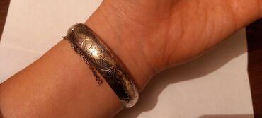 Печатка серебряная - Кыргызстан: Серебряный браслет антиквариат