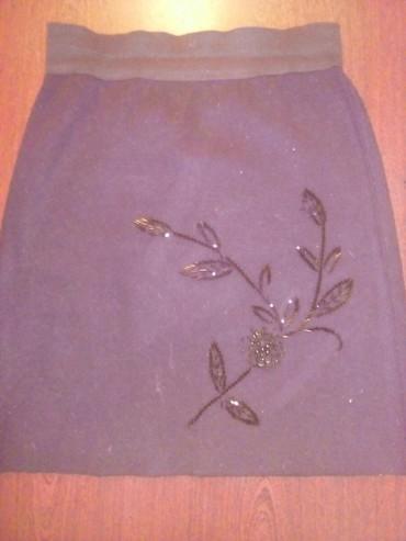 черная юбка карандаш в Кыргызстан: Вязанная черная юбка размер стандартный