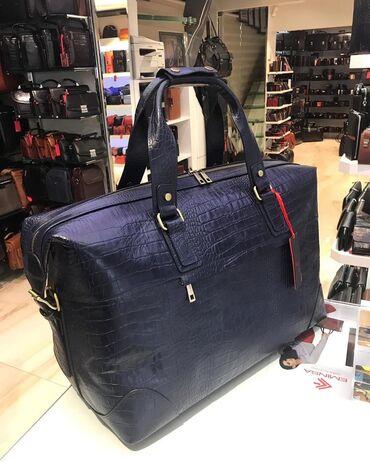 Дорожная сумка из натуральной кожи, производство Турция от фирмы ~EMIN