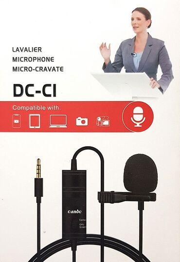 Студийные микрофоны - Кыргызстан: Микрофон Candc DC-C1 (петличный) - всенаправленный петличный микрофон
