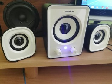 Elektronika | Loznica: Gigatech zvucnici 2.1 novi samo isprobani. lepo se cuju i zvuk je fin