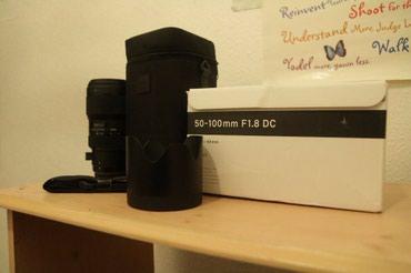 Qusar şəhərində Sigma ART 50-100 F1.8 for Canon.Ela veziyyetde.Hec bir problemi